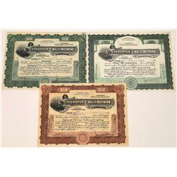 Sequoyah Oil & Refining Engraved Certificates (3)  [128680]