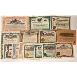 Gulf Coast Texas Oil Stock Certificates (16)  [128701]