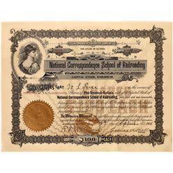 National Correspondence School of Railroading Stock, 1908  [128812]