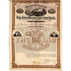 New Jersey and New York Railroad Company Bond, 1880  [128814]
