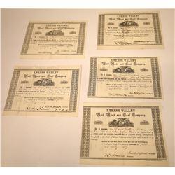 Lykens Valley Rail Road & Coal Company Stock Certificates  [113953]