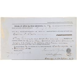 Lykens Valley Railroad and Coal Company Stock Certificate  [128411]