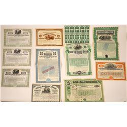 Eastern US Railroad Stocks & Bonds  [113949]