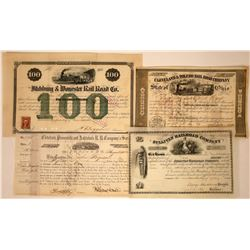 Railroad Stock Certificates with Nice Vignettes  [113850]