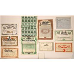US Railroad Stock Certificates & Bonds  [113952]