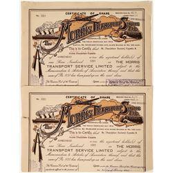Morris Transport Service Stock Certificates, India (2)  [128608]