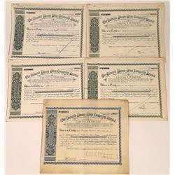 Cunard Steam-Ship Company, Ltd. Stock Certificates (5)  [128606]