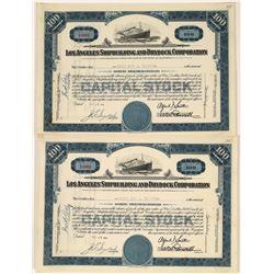Los Angeles Shipbuilding & Drydock Corporation Stocks (2)  [128596]