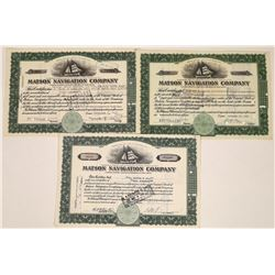 Matson Navigation Company Stock Certificates (3)  [128593]