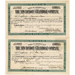 New London Steamboat Company Stocks (2)  [128610]