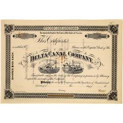 Delta Navigation Company Stock Certificate  [128600]