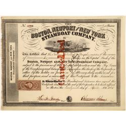 Boston, Newport & New York Steamboat Company Stock, 1865  [128621]