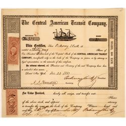 Central American Transit Company Stock, New York, 1867  [128830]