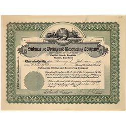 Submarine Diving and Recovery Company Stock Certificate  [128574]