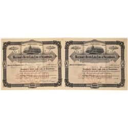 Heerman's Devils Lake Line of Steamboats Stocks, (3), One Issued & Signed by Heerman  [128590]