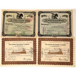Jenkins Steamship Company, Ohio, Stock Certificates (4)  [128604]