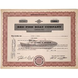 Red Fish Boat Company Stock, Texas   [128570]