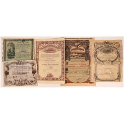 Five Foreign Maritime Stock Certificates  [128629]