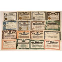 Gasoline & Motor Oil Stock Certificate Collection  [127896]