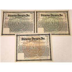Stevens Duryea, Inc. Stock Certificates  [127929]