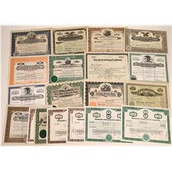 Los Angeles Area Bank Stock Certificates  [127870]