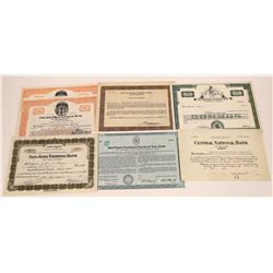 Northern California National Bank Stock Certificates  [127868]
