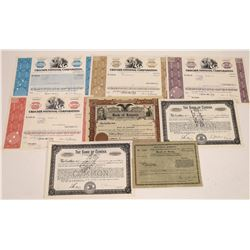 Northern Callifornia Banking Stock Certificates  [127869]