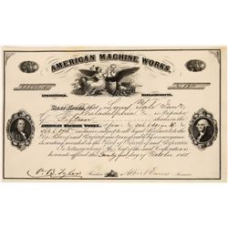 American Machine Works Stock Certificate  [128309]