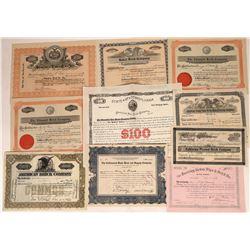 Brick Companies Stock Certificates  [128275]