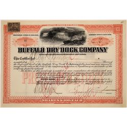 Buffalo Dry Dock Company Pfd. Stock Issued in 1899 With Niagara Falls  [128644]