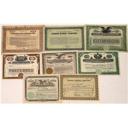 Carbon Related Businesses Stock Certificates (8)  [118758]
