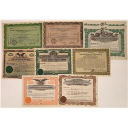 Concrete Company Stock Certificates (9)  [118761]