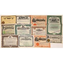 Construction Company Stock Certificates (12)  [118762]