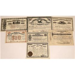 Eastern Manufacturing Companies Stock Certificate Collection: 1880s  [127889]