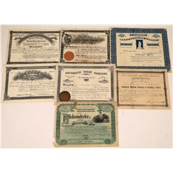 Eastern Manufacturing Companies Stock Certificate Collection: 1890s  [127890]