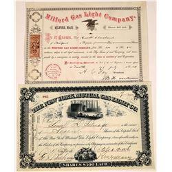 Gas Light Company Stock Certificates  [127905]