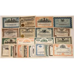 """Group of """"S"""" Surname Stock Certificates- 44 Different  [118752]"""