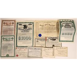 Water Company Stock and Bond Certificates- Many Pre-1900  [128764]