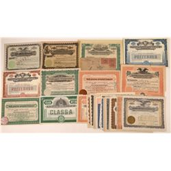 Western Companies 1910-1930s Stock Certificate Collection  [128448]