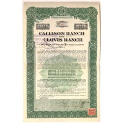 Callison Ranch & Clovis Ranch First Mortgage Certificate  [128455]