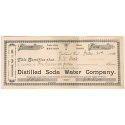 Distilled Soda Water Company Stock Certificate  [127939]
