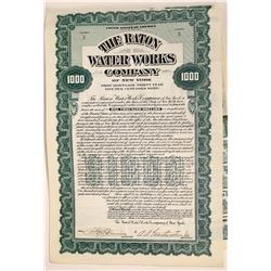 Raton Water Works of New York First Mortgage Gold Bond  [127886]