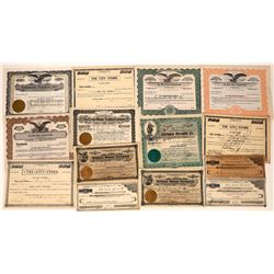 Assorted Western Stores Stock Certificates (14)  [118763]