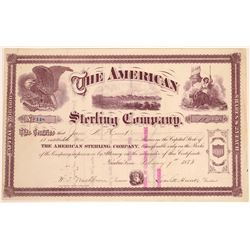 American Sterling Company Stock Certificate  [128456]