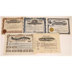 Amusement Company Stock Certificates  [127901]