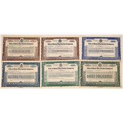 City of Paris Dry Goods Specimen Stock Certificates  [128427]