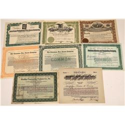 Fire Alarm Company Stock Certificates  [127900]