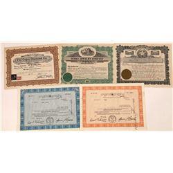 Jewelry & Diamond Company Stock Certificates  [128449]