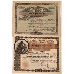 Perfume Company Stock Certificates  [128442]