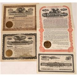Sign Company Stock Certificates  [127956]